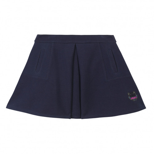 Kenzo navy skirt front view.