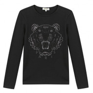 Kenzo black tiger top for girls.
