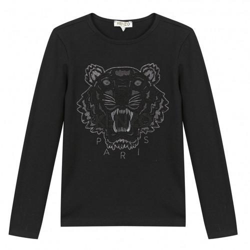 Kenzo black tiger top for girls.