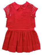 Lili Gaufrette Raspberry Pink Dress