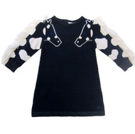 Little Marc Jacobs Navy knit dress.