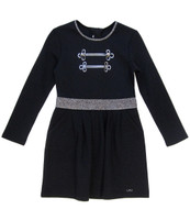 Little Marc Jacobs navy dress with sparkling detail.