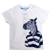 "Little Marc Jacobs ""Zebra print"" Henley"