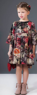 Patachou floral dress on model.