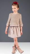 Patachou chiffon skirt on model front view.