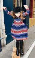 Rykiel wool dress featured on model.