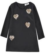 Sonia Rykiel black silk dress with hearts.
