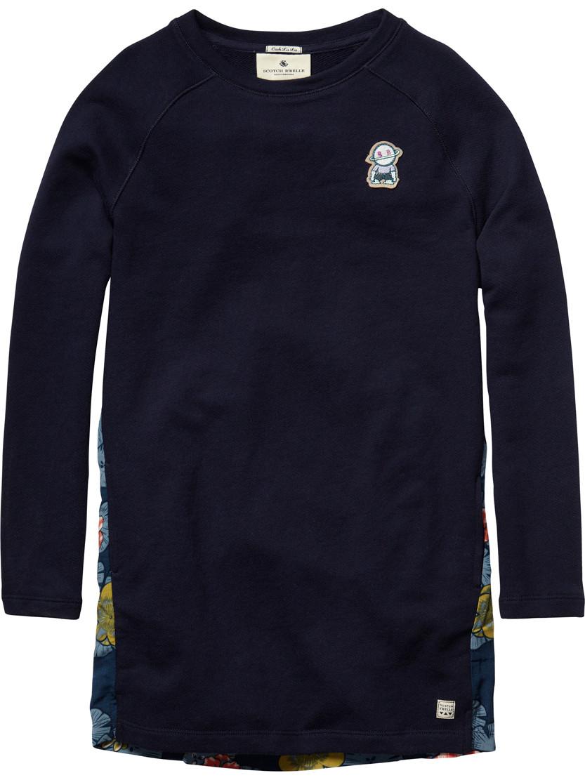 scxotch r 39 belle jersey dress with floral backside. Black Bedroom Furniture Sets. Home Design Ideas