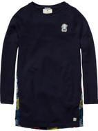 Scotch R'Belle navy jersey dress in front.
