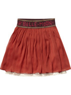 Scotch R'Belle layered orange skirt.