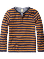 Scotch Shrunk brown and navy striped layered granddad.
