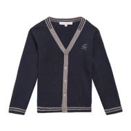 Flat shot of the Tartine navy cardigan.