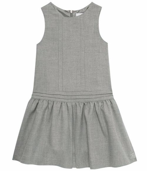 Tartine et Chocolat grey jumper dress for girls.