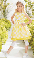 Val Max Yellow Check Dress
