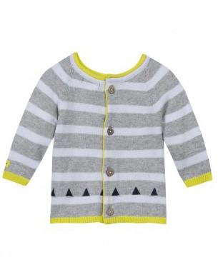 Catimini striped cardigan/sweater.