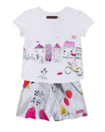 Catimini girls top and shorts.
