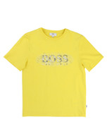 BOSS yellow tee with logo.