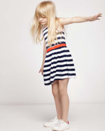 IKKS striped jersey dress.