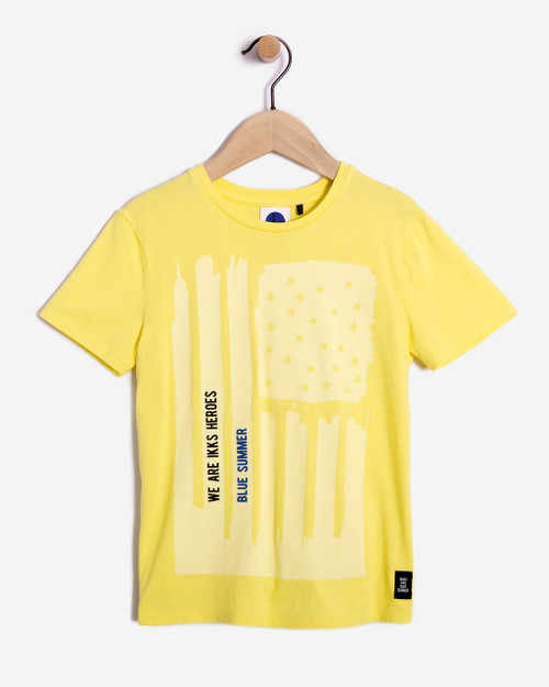 IKKS yellow tee.