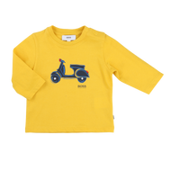 BOSS yellow scooter tee.