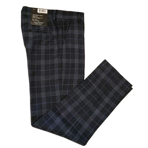 Leo & Zachary Teal Plaid Dress Pants