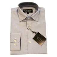Leo & Zachary Blue Piquet Dress Shirt