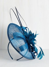 Tilt the End of Time Fascinator in Azure