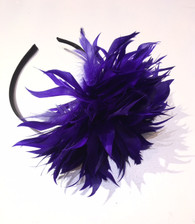 Feather Flower Headband Fascinator