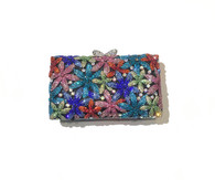 Multicolored Crystal Dressy Purse