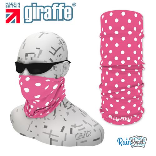 G333 White Spotty Soft Pink Tube Bandana