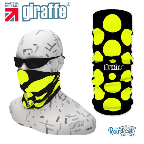 G340 Neon Yellow Spot Black Tube Bandana