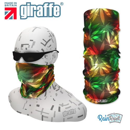 G350 Cannabis Leaves Disco Retro Multi Colour Tube Bandana