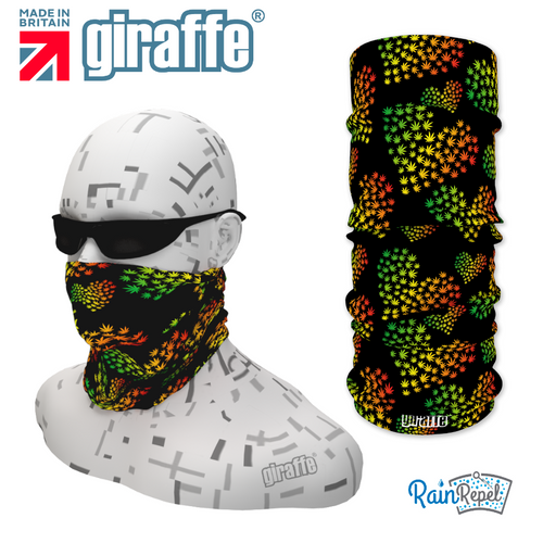 G351 Cannabis Spotty Retro Multi Colour Tube Bandana