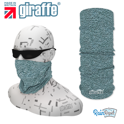 G374 Grey Blue Shaggy Rug Style  Tube Bandana