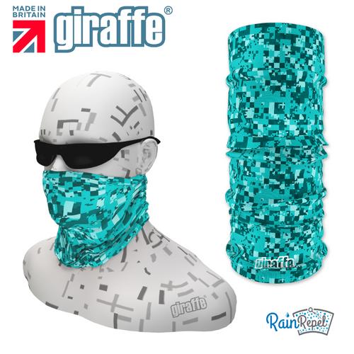 G377 Pixels Mosaic Blues Repeat Tube Bandana