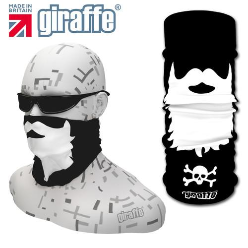 G447 Beard Face Mask Black White Tube  Bandana