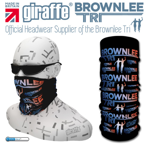 Brownlee Brothers Triathlon Black/Colour  Multi-functional Tube Bandana
