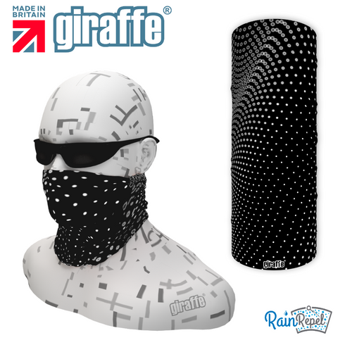 G552 Spotty Black wave Multi-functional Tube Bandana