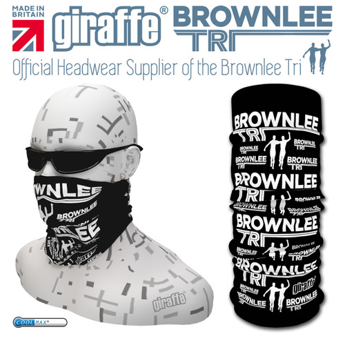Brownlee Brothers Triathlon Black/White  Multi-functional Tube Bandana