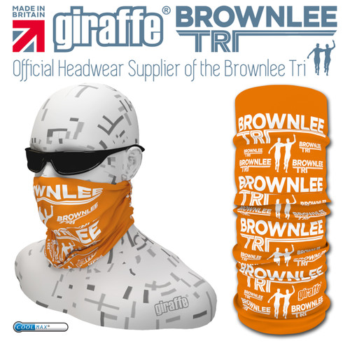 Brownlee Brothers Triathlon Orange  Multi-functional Tube Bandana