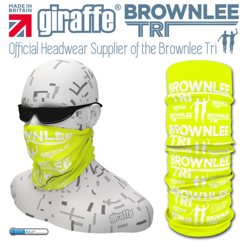 Brownlee Brothers Triathlon Yellow Glow  Multi-functional Tube Bandana