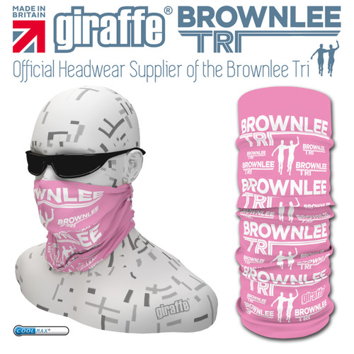 Brownlee Brothers Triathlon Pink Multi-functional Tube Bandana