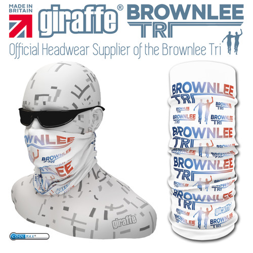 Brownlee Brothers Triathlon White Colour Multi-functional Tube Bandana