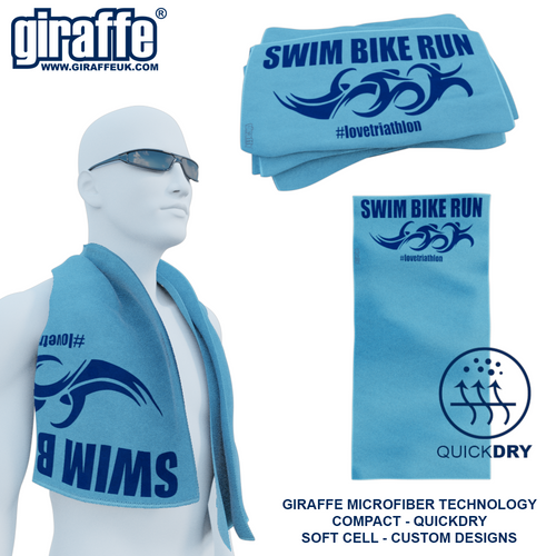 Swim Bike Run GT-003 Sports Microfibre Towel