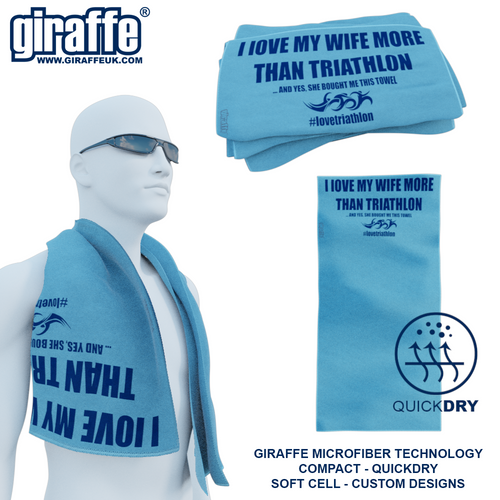Love My Wife Triathlon GT-005 Sports Microfibre Towel
