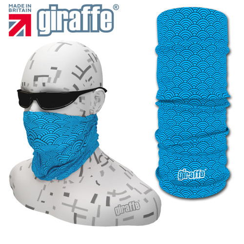 G412 Blue Fish Scales Fishing Multi-functional Tube Bandana