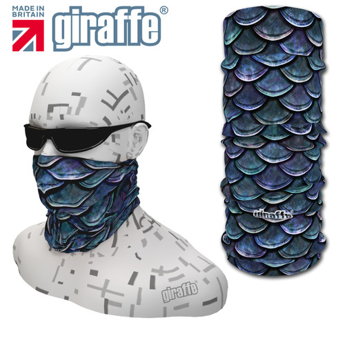 G416 Blue Fish Scales Abstract fishing Multi-functional Tube Bandana