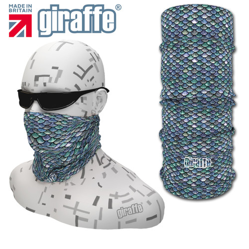 G417 Small Blue Fish Scales fishing Multi-functional Tube Bandana