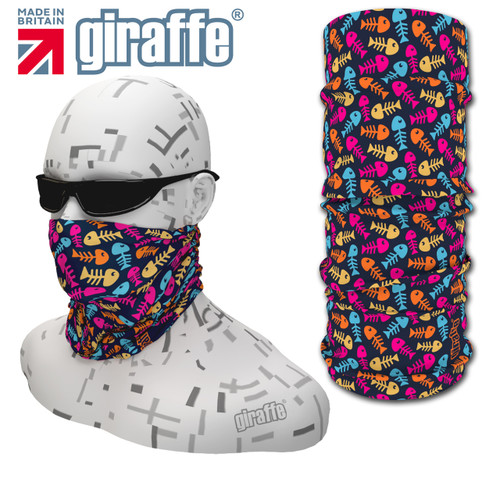 G420 Coloured Fish Skeleton fishing Multi-functional Tube Bandana