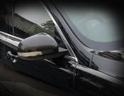 Jaguar XF Real Carbon Fiber Mirror Cover Finishers 2007-2009